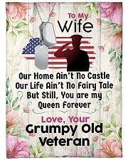 """Veteran's Wife Premium Large Fleece Blanket - 60"""" x 80"""" front"""