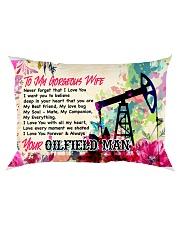 GIFT FOR AN OILFIELD MAN'S WIFE - PREMIUM Rectangular Pillowcase front