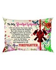 GIFT FOR A FIREFIGHTER'S GIRLFRIEND - PREMIUM Rectangular Pillowcase back