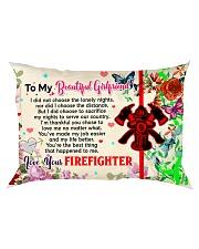 GIFT FOR A FIREFIGHTER'S GIRLFRIEND - PREMIUM Rectangular Pillowcase front