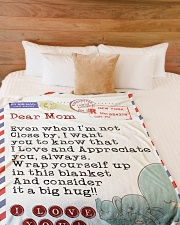 "Mom Premium Large Fleece Blanket - 60"" x 80"" aos-coral-fleece-blanket-60x80-lifestyle-front-02"