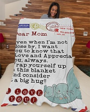 "Mom Premium Large Fleece Blanket - 60"" x 80"" aos-coral-fleece-blanket-60x80-lifestyle-front-04"