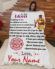 "Firefighter's Mom Premium Large Fleece Blanket - 60"" x 80"" aos-coral-fleece-blanket-60x80-lifestyle-front-04"