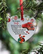 Trucker's Wife - Heart ornament - single (porcelain) aos-heart-ornament-single-porcelain-lifestyles-07