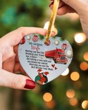 Trucker's Wife - Heart ornament - single (porcelain) aos-heart-ornament-single-porcelain-lifestyles-08