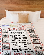 "Oilfield Man's Wife  Premium Large Fleece Blanket - 60"" x 80"" aos-coral-fleece-blanket-60x80-lifestyle-front-02"