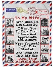 """Oilfield Man's Wife  Premium Large Fleece Blanket - 60"""" x 80"""" front"""