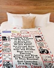 "Mechanic's Girlfriend Premium Large Fleece Blanket - 60"" x 80"" aos-coral-fleece-blanket-60x80-lifestyle-front-02"