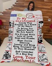 "Mechanic's Girlfriend Premium Large Fleece Blanket - 60"" x 80"" aos-coral-fleece-blanket-60x80-lifestyle-front-04"
