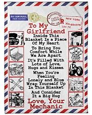 """Mechanic's Girlfriend Premium Large Fleece Blanket - 60"""" x 80"""" front"""