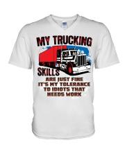 Lady Trucker V-Neck T-Shirt thumbnail