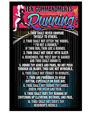 RUNNING COMMANDMENTS - PREMIUM 11x17 Poster front