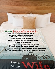 "Gift For Farmer Premium Large Fleece Blanket - 60"" x 80"" aos-coral-fleece-blanket-60x80-lifestyle-front-02"