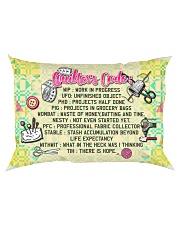 QUILTER'S CODE - PREMIUM Rectangular Pillowcase back