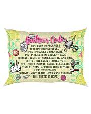 QUILTER'S CODE - PREMIUM Rectangular Pillowcase front