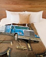 "Trucker - Premium Large Fleece Blanket - 60"" x 80"" aos-coral-fleece-blanket-60x80-lifestyle-front-02"