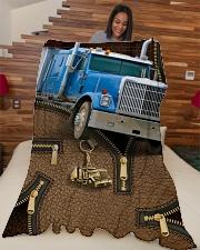 "Trucker - Premium Large Fleece Blanket - 60"" x 80"" aos-coral-fleece-blanket-60x80-lifestyle-front-04"