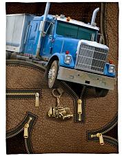 """Trucker - Premium Large Fleece Blanket - 60"""" x 80"""" front"""