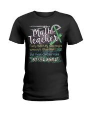 MATH TEACHER - PAST BUYERS EXCLUSIVE Ladies T-Shirt thumbnail