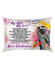 GIFT FOR AN ELECTRICIAN'S WIFE - PREMIUM Rectangular Pillowcase back
