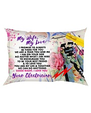 GIFT FOR AN ELECTRICIAN'S WIFE - PREMIUM Rectangular Pillowcase front