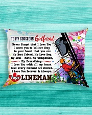 GIFT FOR A LINEMAN'S GIRLFRIEND- PREMIUM Rectangular Pillowcase aos-pillow-rectangle-front-lifestyle-5