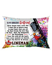 GIFT FOR A LINEMAN'S GIRLFRIEND- PREMIUM Rectangular Pillowcase front