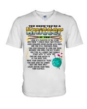 Knitting V-Neck T-Shirt thumbnail