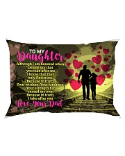 GIFT FOR YOUR DAUGHTER - PREMIUM Rectangular Pillowcase back