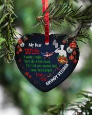 Veteran's Wife - Heart ornament - single (porcelain) aos-heart-ornament-single-porcelain-lifestyles-07