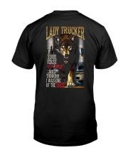 LADY TRUCKER - I'M THE WOLF   Classic T-Shirt thumbnail