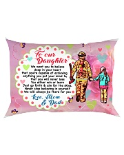 GIFT FOR A FIREFIGHTER'S DAUGHTER - PREMIUM Rectangular Pillowcase back