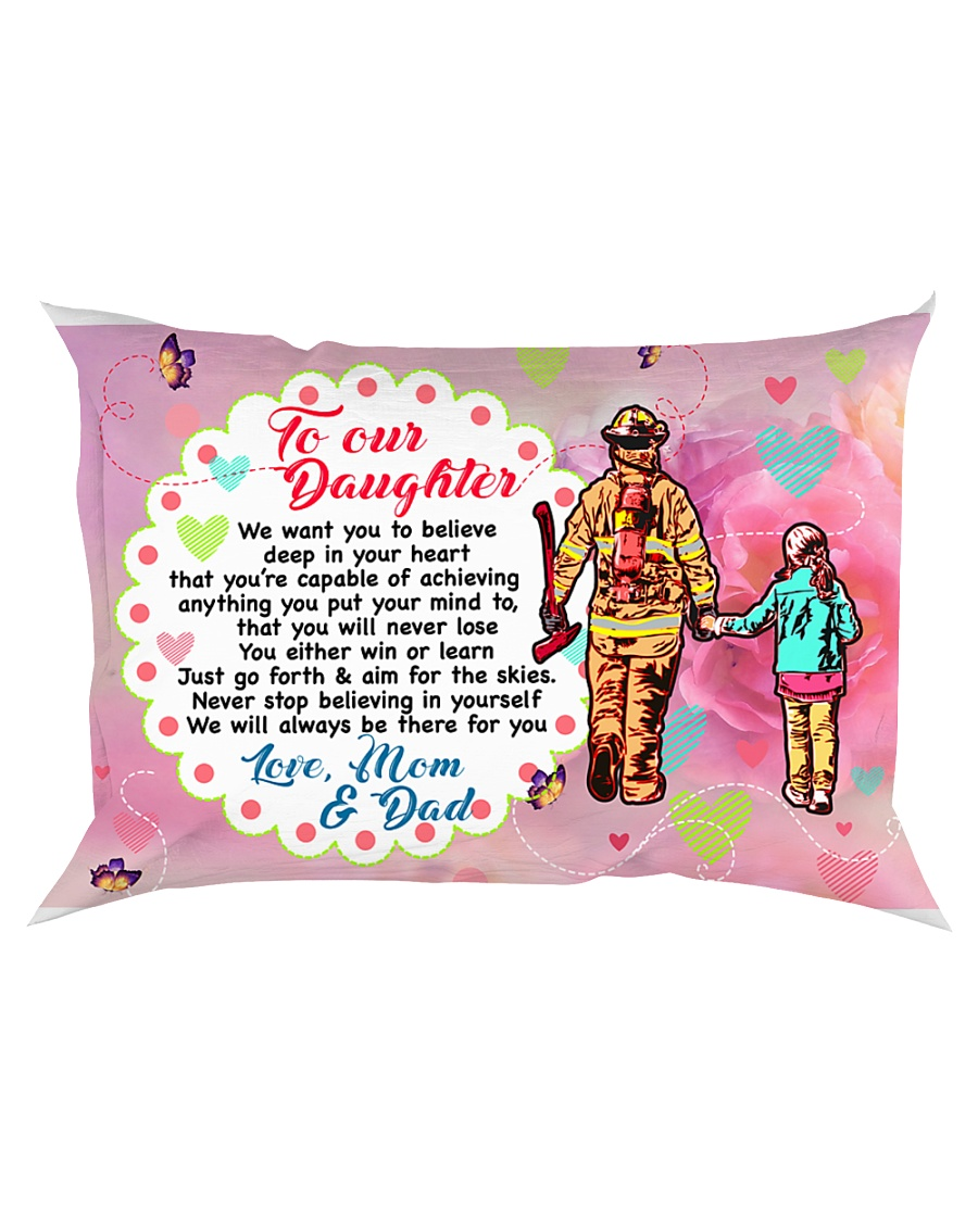 GIFT FOR A FIREFIGHTER'S DAUGHTER - PREMIUM Rectangular Pillowcase