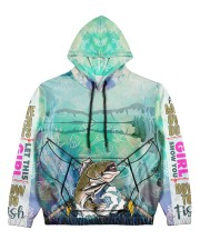 FISHING GIRL Women's All Over Print Hoodie front