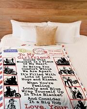 """Biker's Girlfriend  Premium Large Fleece Blanket - 60"""" x 80"""" aos-coral-fleece-blanket-60x80-lifestyle-front-02"""