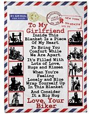 """Biker's Girlfriend  Premium Large Fleece Blanket - 60"""" x 80"""" front"""