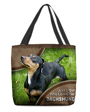 DACHSHUND GIRL All-over Tote front