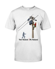 LINEMAN'S WIFE Classic T-Shirt front