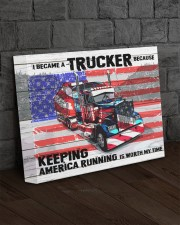 Trucker - Premium 14x11 Gallery Wrapped Canvas Prints aos-canvas-pgw-14x11-lifestyle-front-11