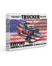 Trucker - Premium 14x11 Gallery Wrapped Canvas Prints front