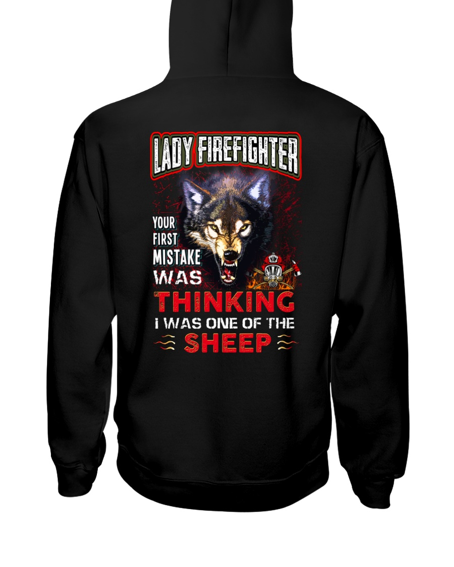 Lady Firefighter - I'm the Wolf Hooded Sweatshirt