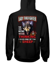 Lady Firefighter - I'm the Wolf Hooded Sweatshirt back