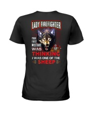 Lady Firefighter - I'm the Wolf Ladies T-Shirt thumbnail