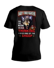 Lady Firefighter - I'm the Wolf V-Neck T-Shirt thumbnail