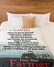 "Farmer's Wife  - Black Friday Sale Large Fleece Blanket - 60"" x 80"" aos-coral-fleece-blanket-60x80-lifestyle-front-02"