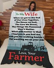 "Farmer's Wife  - Black Friday Sale Large Fleece Blanket - 60"" x 80"" aos-coral-fleece-blanket-60x80-lifestyle-front-04"