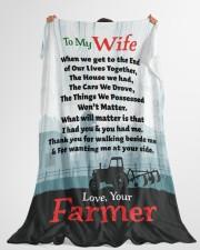"Farmer's Wife  - Black Friday Sale Large Fleece Blanket - 60"" x 80"" aos-coral-fleece-blanket-60x80-lifestyle-front-10"