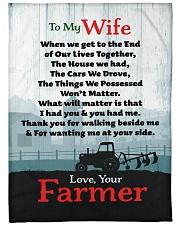 "Farmer's Wife  - Black Friday Sale Large Fleece Blanket - 60"" x 80"" front"