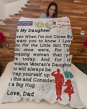 """Veteran's Daughter  Premium Large Fleece Blanket - 60"""" x 80"""" aos-coral-fleece-blanket-60x80-lifestyle-front-04"""