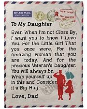 """Veteran's Daughter  Premium Large Fleece Blanket - 60"""" x 80"""" front"""